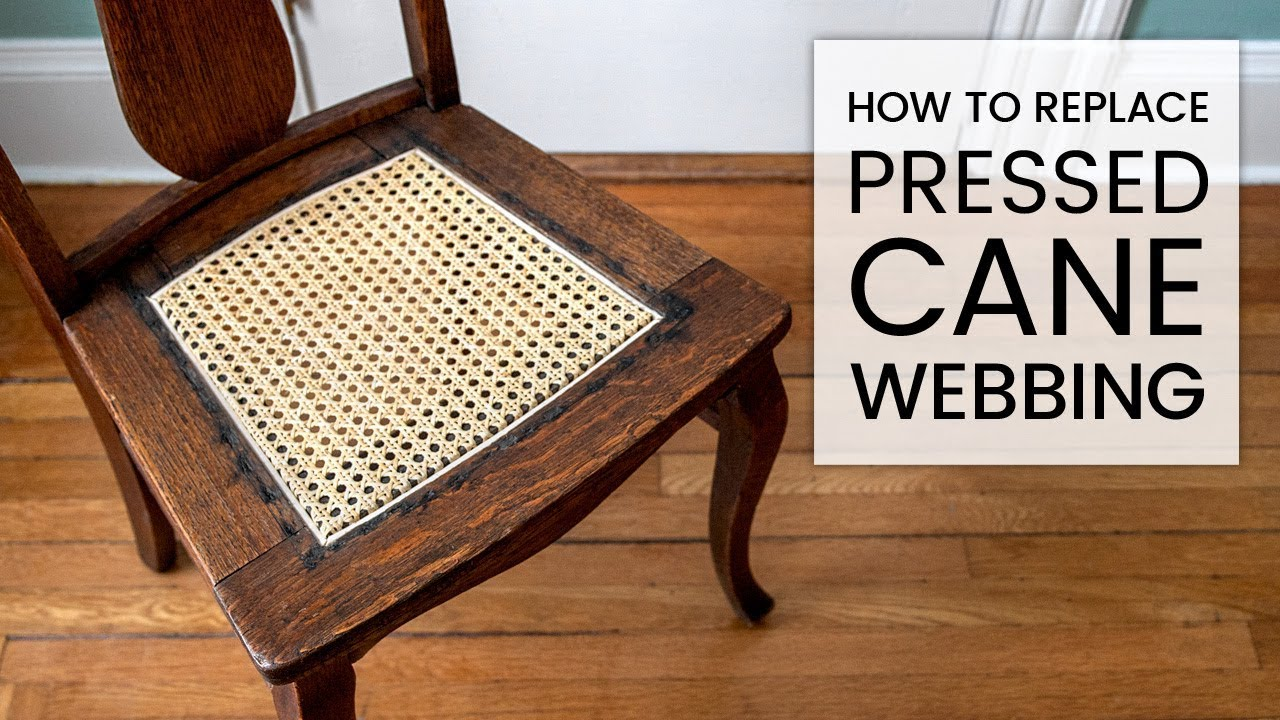 How to Replace Pressed Cane Webbing - YouTube