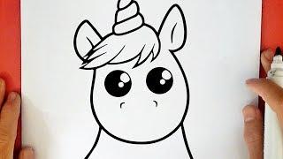 Unicornio Kawaii Para Colorear