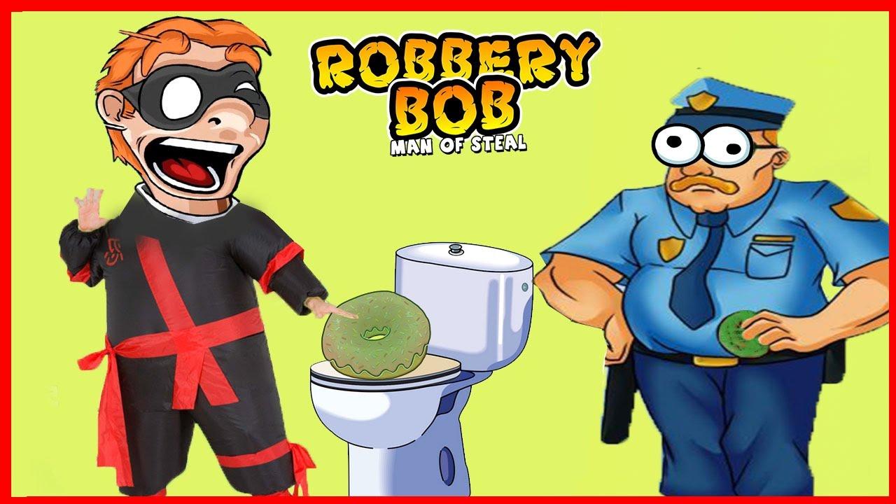 ВОРИШКА БОБ 1 42 Новая серия ПРИКОЛЫ ВСЕ ИЩУТ УНИТАЗ БОБ КАК НИНДЗЯ Игровой мультик по игре Robbery