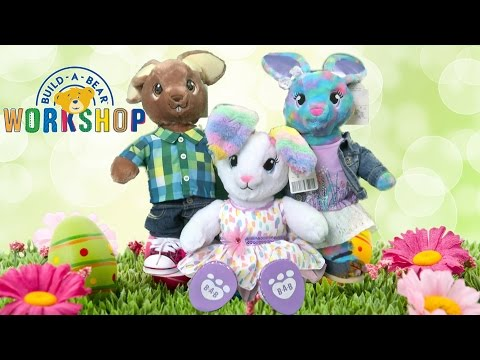 Sweet Stripes Bunny, Jumpin' Jack Rabbit & Color Burst Bunny From Build-A-Bear