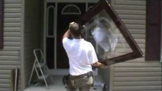How to install a Larson storm door
