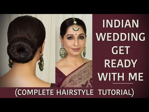 How to make hair bun for indian wedding