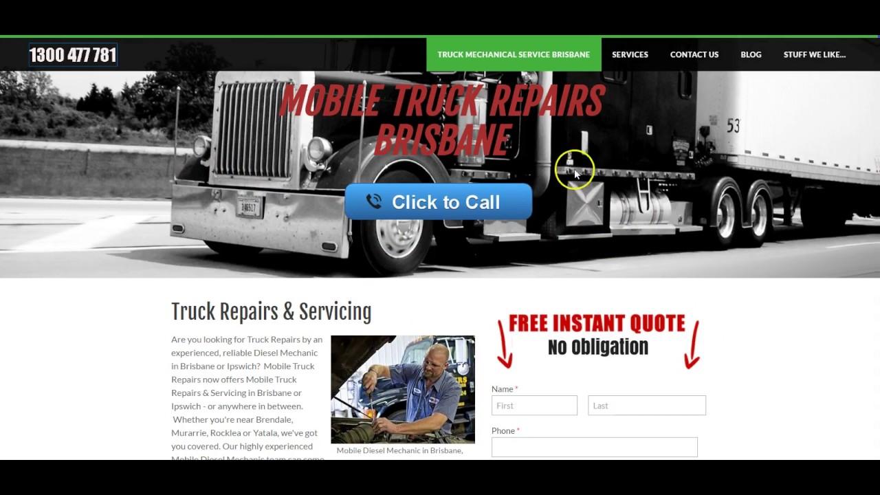 Mobile Truck Repairs | Mobile Diesel Mechanic Brisbane - mobile
