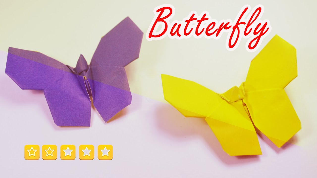 Origami Butterfly Easy Origami Animal Youtube