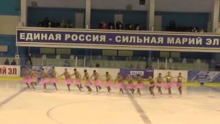 Чемпионат России по синхронному катанию  КМС  ПП 10 Идель КАЗ