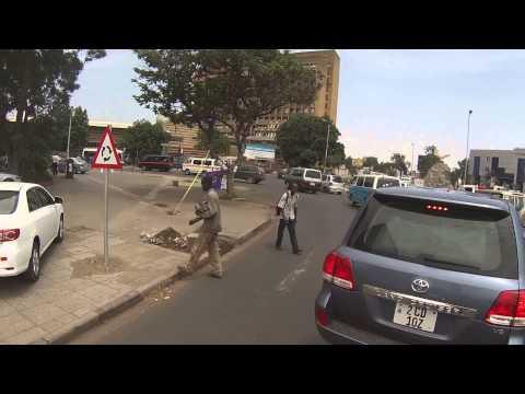 Driving in Lusaka
