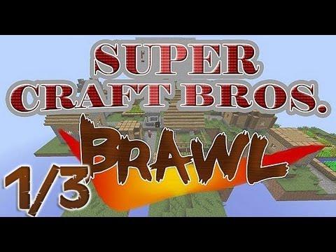 Super Craft Bros: Brawl #1/3 ( PVP Skerdynės )