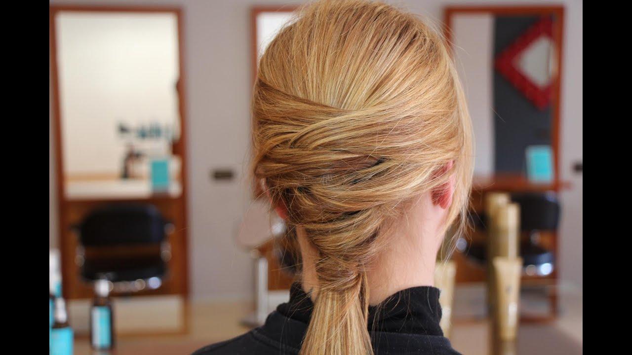 Como hacer un peinado divertido cola cruzada youtube - Como realizar peinados ...