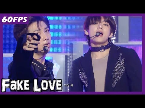 60FPS 1080P | BTS - Fake Love, 방탄소년단 - Fake Love Show Music Core 20180526