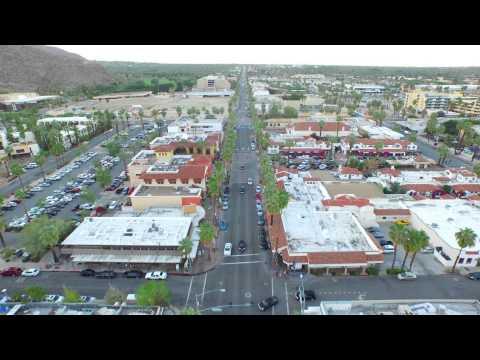 DJI Inspire 4K Drone Flight Over Palm Springs