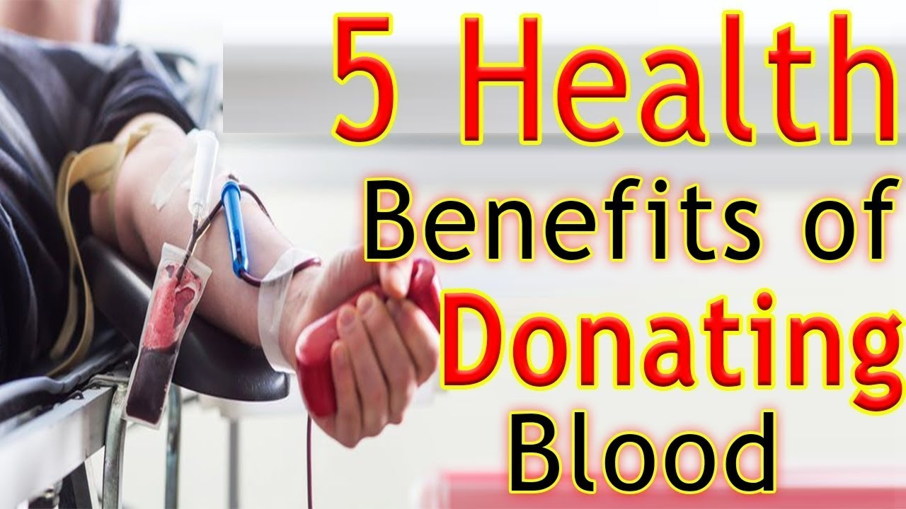 the benefits of donating blood Donating blood may not only benefit the person who received the blood cells but may also improve the health of the donor.
