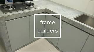 Aluminium kitchen door and frame #kitchen #aluminiumkitchen