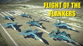 9 X Flankers & Fulcrums Attack Heavily Defended USAF Base | Su-33 Su-27 Mig-29 | DCS