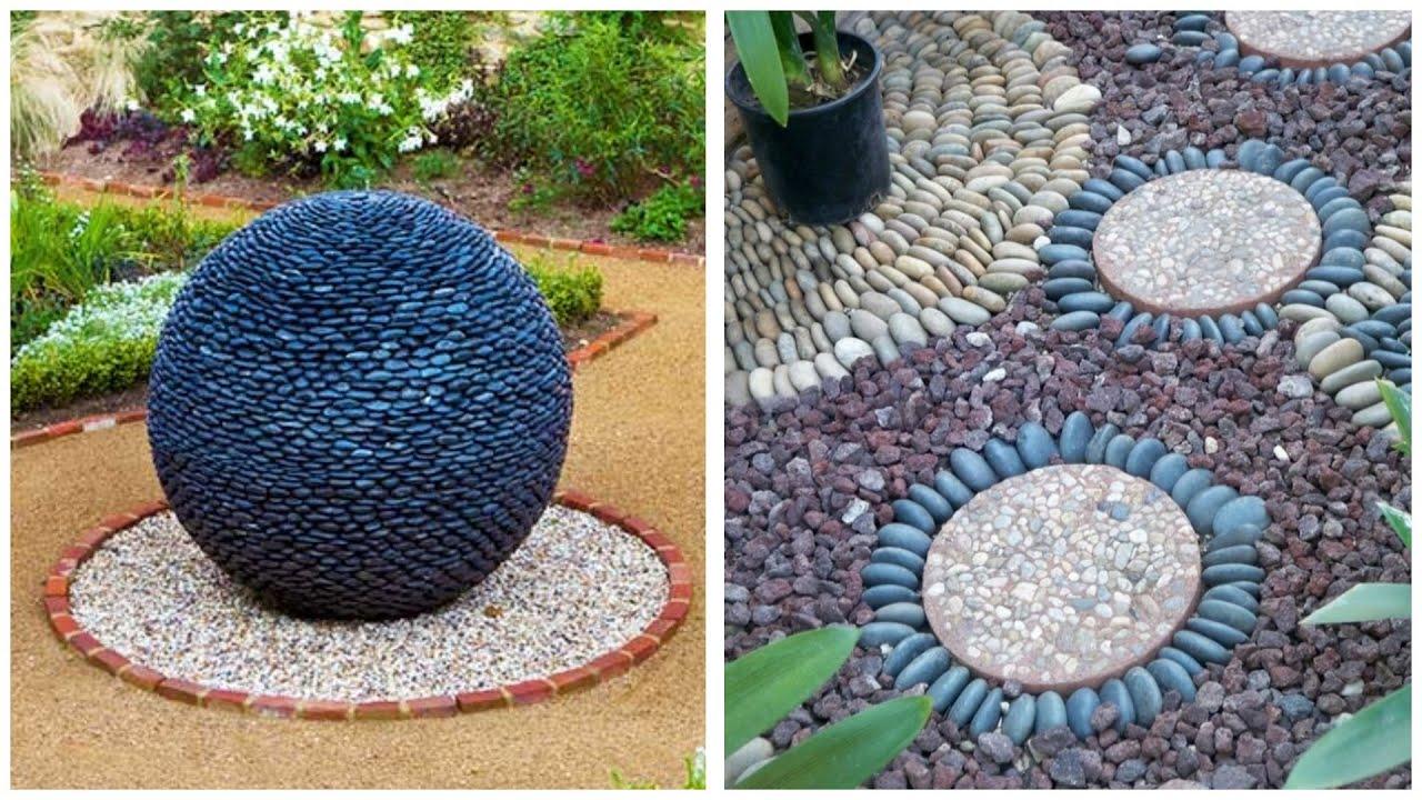 Landscape Design Ideas Using Stones In The Garden Garden Paths Flower Beds Retaining Walls Youtube