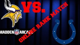 Madden NFL Arcade Online Rank Match Indianapolis Colts vs Minnesota Vikings