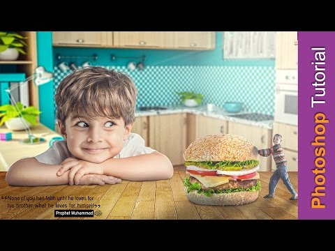 Photoshop Manipulation Tutorial  - Majd Khatib - || .Sharing Food. ||