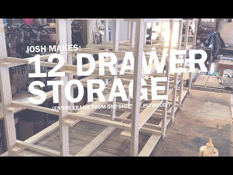 12 drawer storage (frame out of one sheet of plywood!)