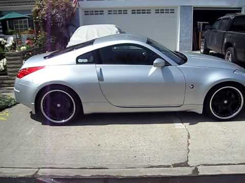 My Silver 350z On 20 Inch Rims Walk Around After A Wash