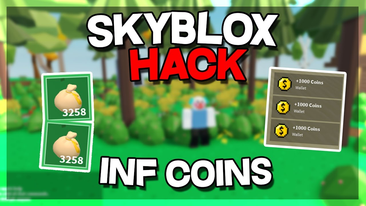 Roblox Skyblox Hack Infinity Coins Duplicate Items Op Youtube