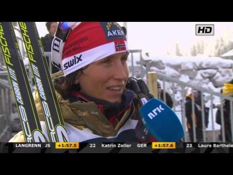 VM Woman's 10 Km Holmenkollen 2011 - Marit Bjørgen INTERVIEW