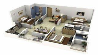 Amazing 3 bhk apartment/house plans ||home map design || home design SketchUp|| floor plan design