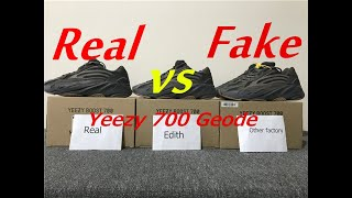 a124f24fb676c Real VS Fake yeezy 700 geode comparison review