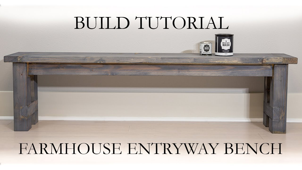 Farmhouse entryway bench diy
