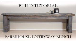 Farmhouse Entryway Bench DIY