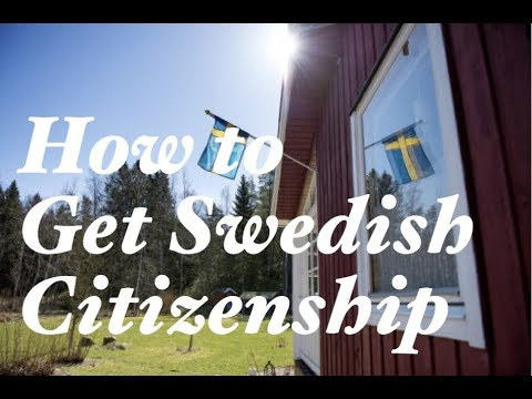 How To Get Swedish Citizenship Method 1