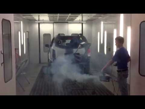 Spray Booth Smoke Test with Automatic Booth Pressure ...