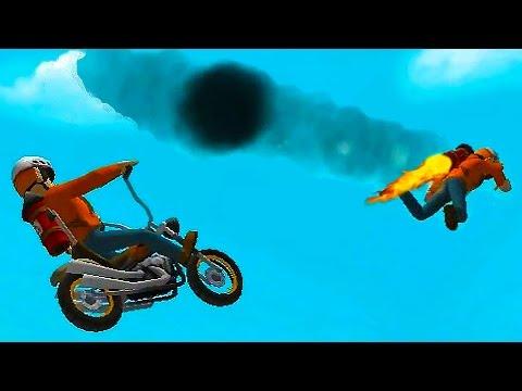 Fail Hard #6 Игра мультик про машинки мотоциклы для детей Веселое видео про мотоциклы для малышей