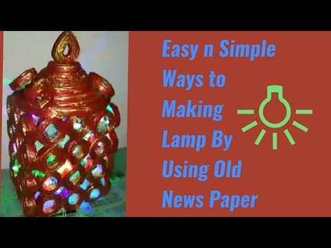 OMG beautiful transformation of Newspaper's/ Diy newspaper Lamp