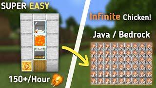 Minecraft 1.17 Automatic Chi¢ken Farm Tutorial (MCPE/Xbox/PS4/Switch/Windows10)