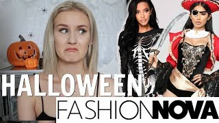 TRYING HALLOWEEN COSTUMES FROM FASHION NOVA