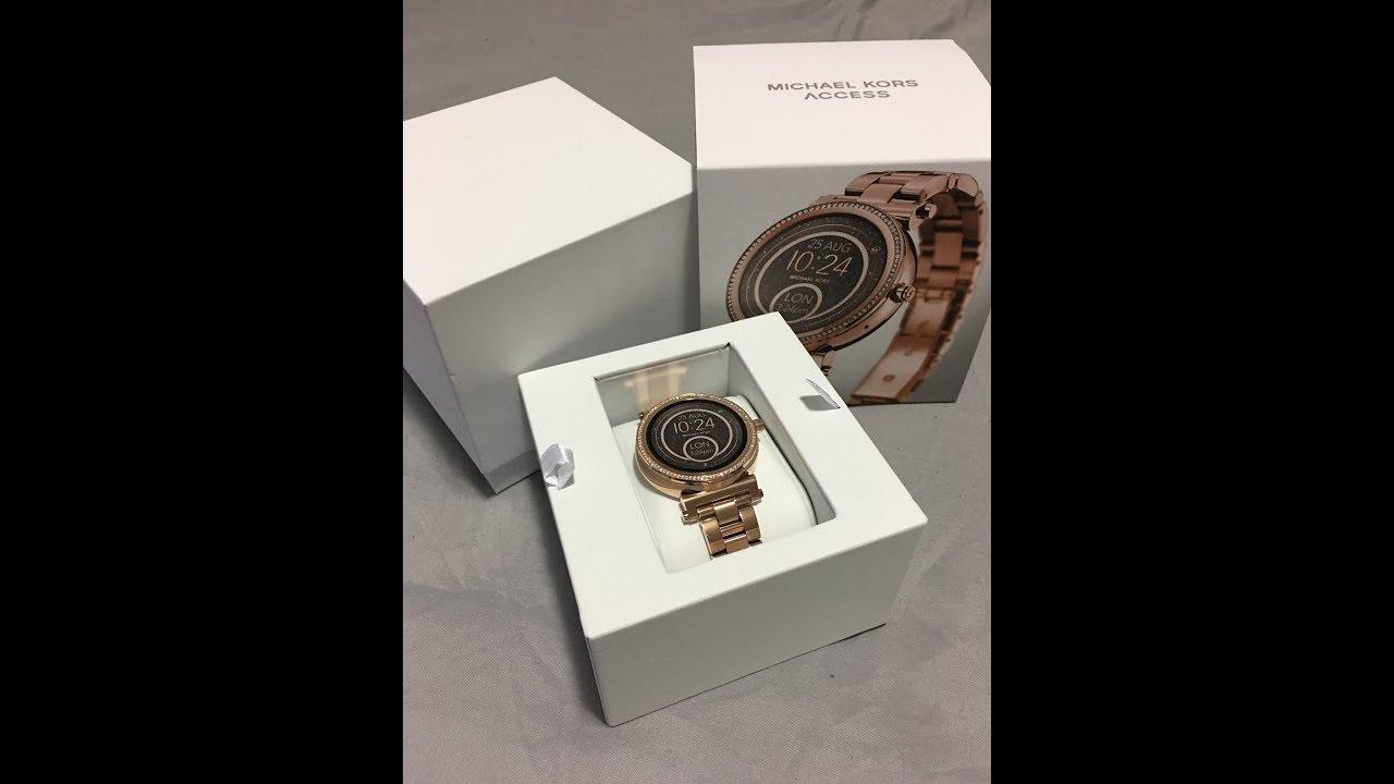Michael Kors Sofie Smartwatch Unboxing Setup Customization