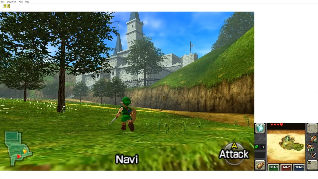 Citra (3DS Emulator) - The Legend of Zelda: Ocarina of Time 3D (1080p / 60  FPS)