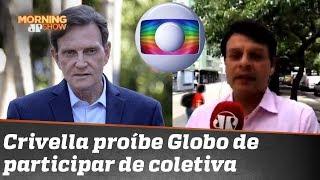 """""""O prefeito Marcelo Crivella declarou guerra às organizações Globo"""", informa Rodrigo Viga"""