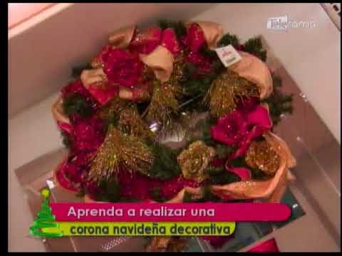 Aprenda a realizar una corona navideña decorativa