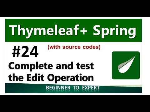 Thymeleaf edit form