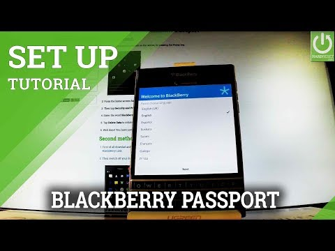 How to Set Up BLACKBERRY Passport - BLACKBERRY Activation Tutorial