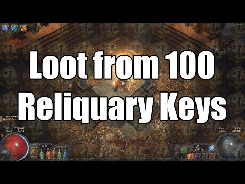 Loot from 100 Reliquary Keys