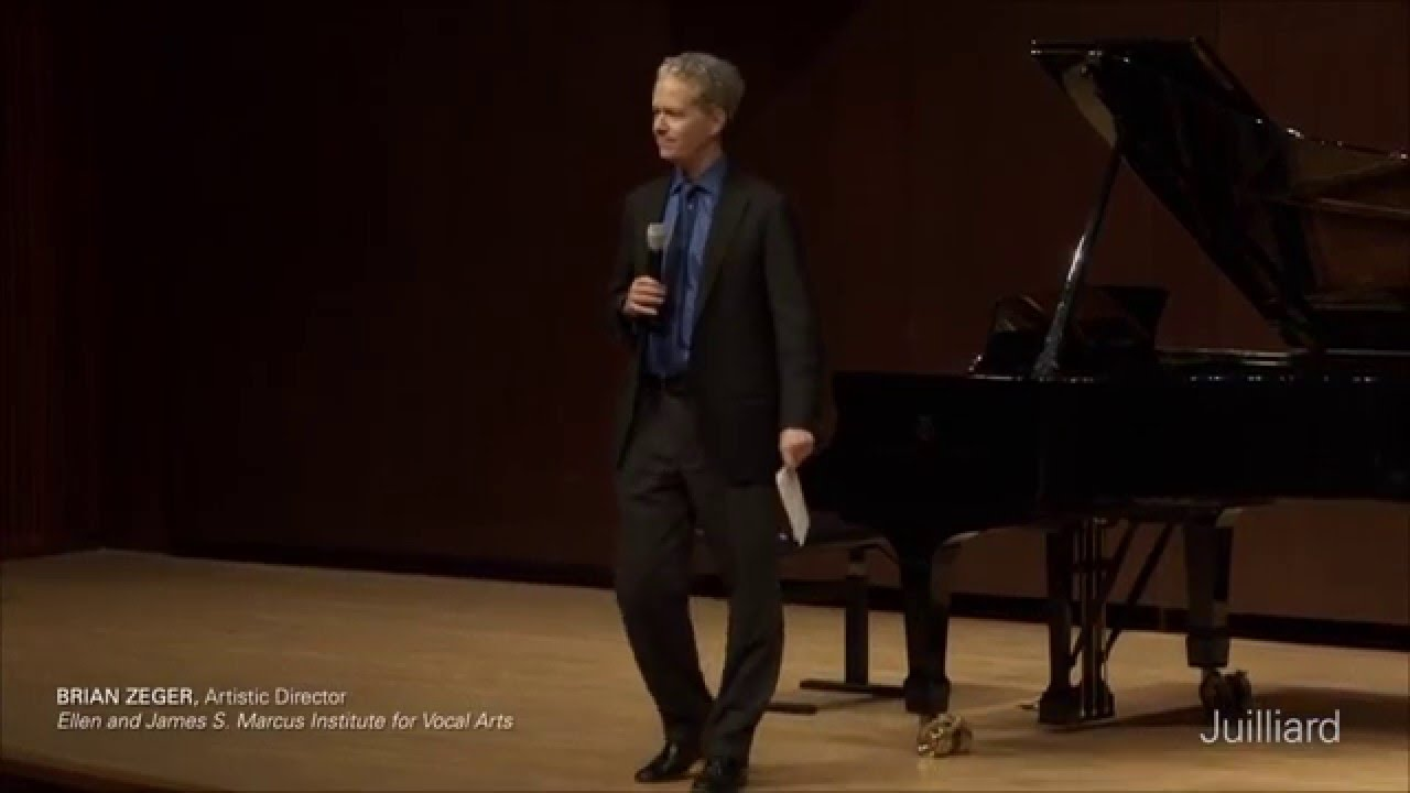 Joyce DiDonato Master Class, December 10, 2015: Introduction by Brian Zeger