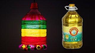 Plastic bottle light idea   plastic bottle organiser / Best out of waste