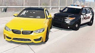 Epic Police Pit Maneuver Crashes #13 - BeamNG drive