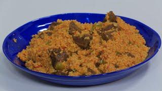 ارز احمر باللحمة | نجلاء الشرشابي