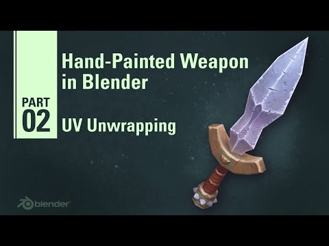 UV Unwrapping - Hand Painted Weapon in Blender 2/9