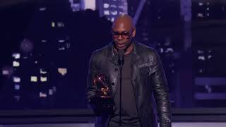 Dave Chappelle Wins Best Comedy Album | Acceptance Speech | 60th GRAMMYs