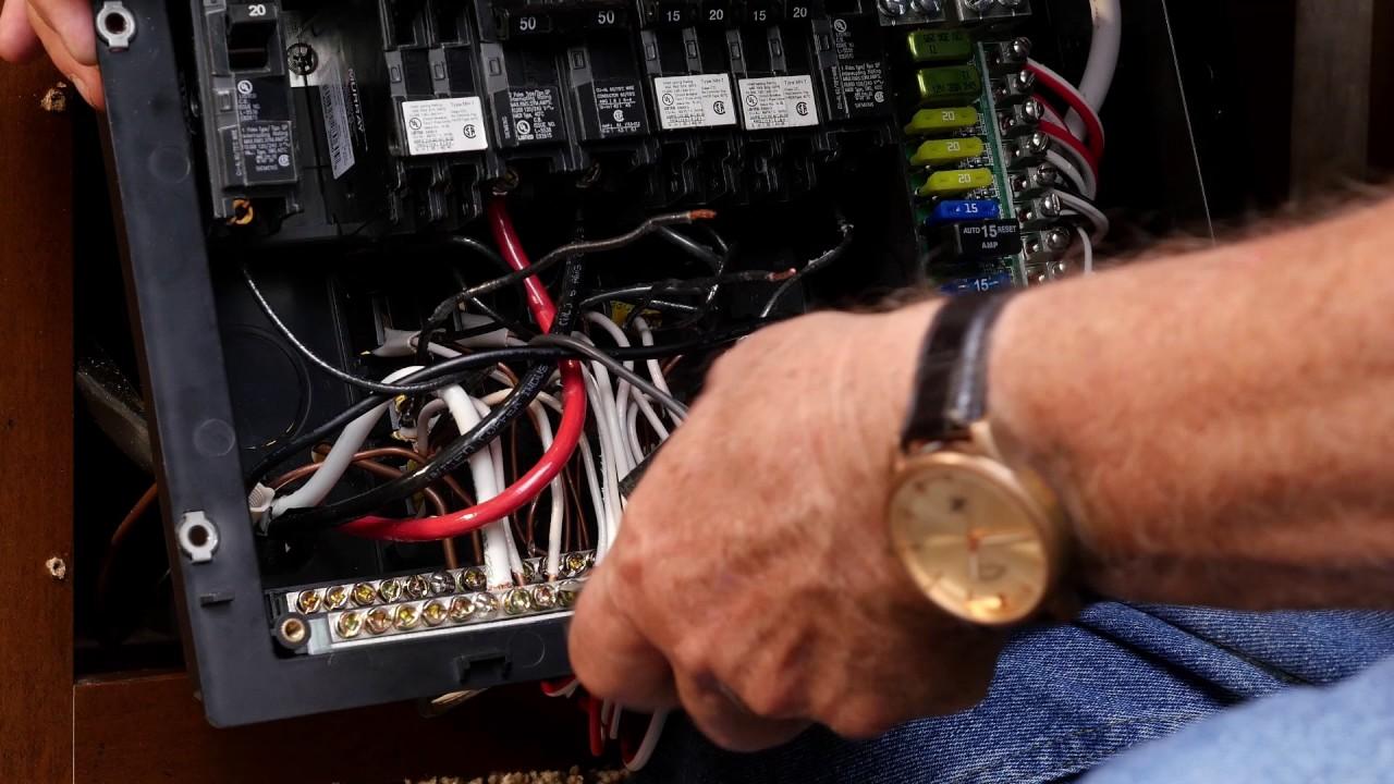 hight resolution of rv transfer switch installation