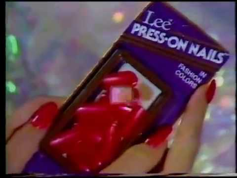 Lee Press On Nails Commercial 1980s