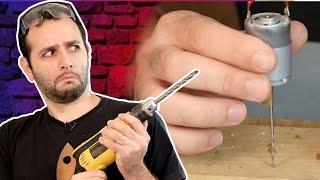 Minifuradeira caseira - furamos ferro, madeira e PVC!